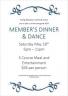 Members Dinner 18th May 2019
