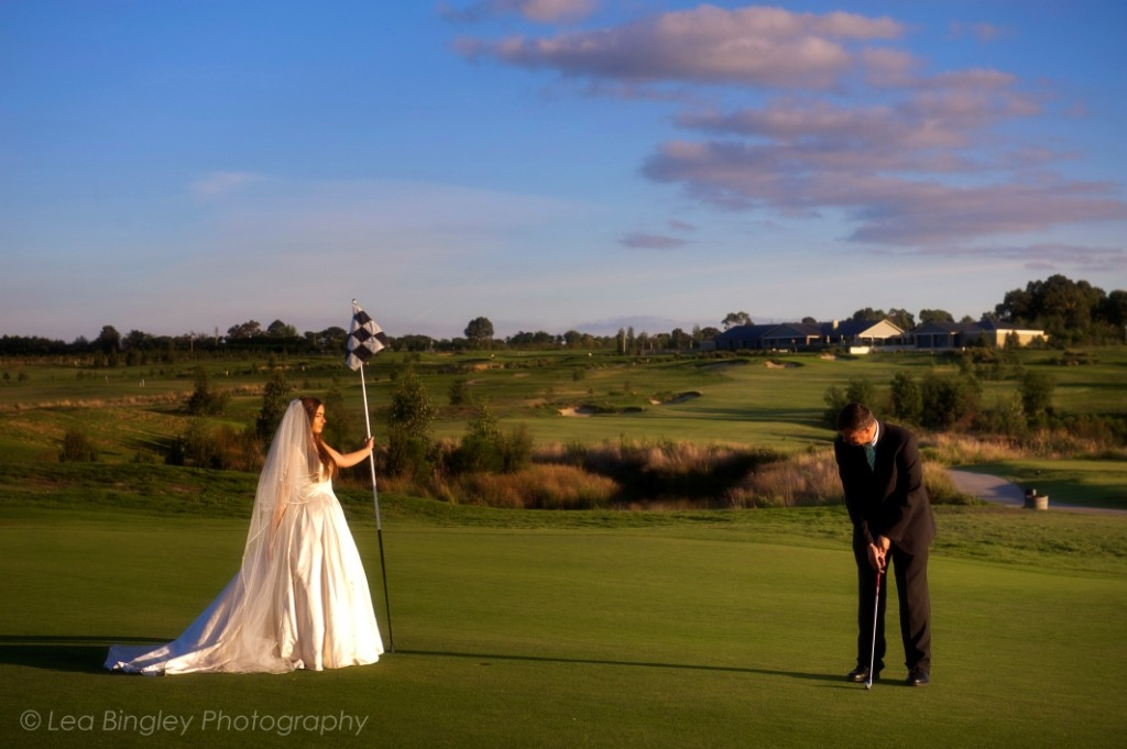 Wedding golf at Yering Meadows