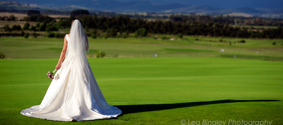 Bride Overlooking Course